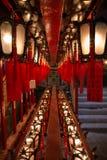 Lampes à l'homme Mo Temple en Hong Kong Images stock