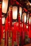 Lampes à l'homme Mo Temple en Hong Kong Photographie stock