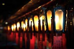 Lampes à l'homme Mo Temple, Sheung blême, Hong Kong Images libres de droits