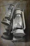 Lampes à pétrole de vintage Photo stock