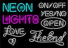 Lampes au néon Images stock