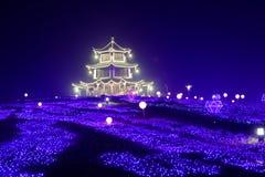 Lampes au néon avec de formes-Le le festival de lanterne différent d'abord à Nan-Tchang Image stock
