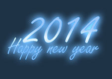 Lampes au néon d'une bonne année 2014 illustration libre de droits