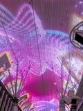 Lampes au néon dans la rue de Fremont, las Photographie stock libre de droits