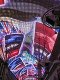 Lampes au néon dans la rue de Fremont, las Photographie stock