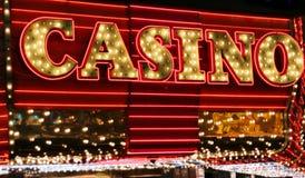 Lampes au néon de casino Photographie stock libre de droits