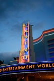 Lampes au néon de casino Photographie stock