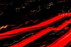 Lampes au néon pendant la nuit images libres de droits