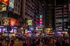 Lampes au néon sur la rue de Tsim Sha Tsui Image stock