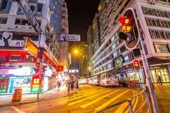 Lampes au néon sur la rue de Tsim Sha Tsui Photo libre de droits