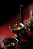 Lampes bouddhistes de beurre photo libre de droits