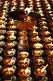 Lampes bouddhistes de beurre Images libres de droits