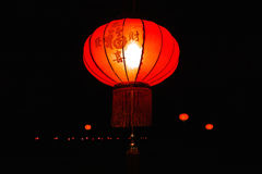 Lampes chinoises rouges traditionnelles Photo libre de droits
