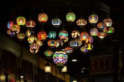Lampes colorées Photos libres de droits