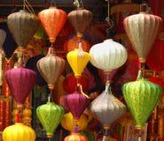 Lampes colorées Images libres de droits