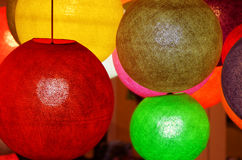 Lampes colorées Photo libre de droits