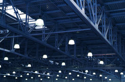 Lampes. Conceptions en métal image stock