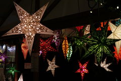 Lampes d'étoile Photographie stock