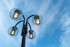 Lampes dans le ciel Images stock