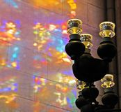 Lampes dans St Vitus Cathedral à Prague Images stock