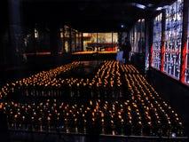 Lampes de Buter au monastère, Gangtok, Sikkim, Inde image libre de droits