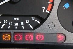 Lampes de contrôle de voiture Photo libre de droits