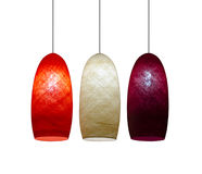 3 lampes de couleur Photo stock