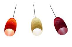 3 lampes de couleur Images libres de droits