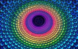 Lampes de couleur - lumières de Lotus Image libre de droits