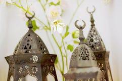 Lampes de main Arabes, plan rapproché Images libres de droits