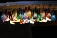 Lampes de mur colorées Images libres de droits