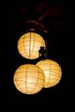 Lampes de papier Photo stock