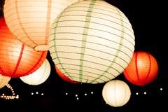 Lampes de papier de couleur de beauté Images libres de droits