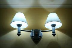Lampes de pièce de Lit Images stock