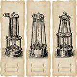 Lampes de sécurité Photo libre de droits