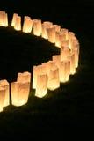 Lampes de sac de papier Images libres de droits