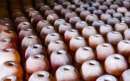 Lampes de sel de tasse de pile photographie stock