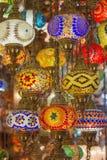 Lampes de tabouret de mosaïque de bazar grand images stock