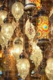Lampes de tabouret de mosaïque de bazar grand images libres de droits
