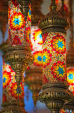 Lampes de tabouret de mosaïque de bazar grand photo libre de droits