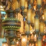 Lampes de tabouret de mosaïque de bazar grand photos stock