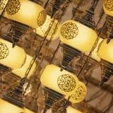 Lampes de tabouret de mosaïque de bazar grand photos libres de droits