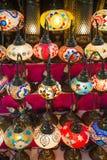 Lampes en verre colorées de mosaïque Photo libre de droits