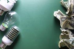 Lampes et argent différents Photographie stock
