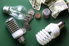 Lampes et argent différents Images libres de droits