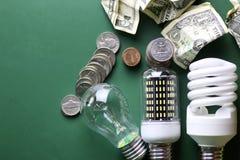 Lampes et argent différents Photographie stock libre de droits