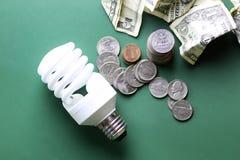 Lampes et argent différents Images stock