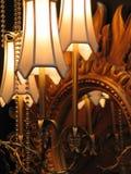 Lampes et miroir Photos stock