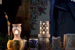 Lampes faites main de nuit Photo libre de droits