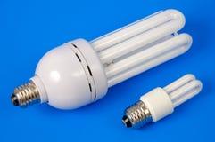 Lampes fluorescentes économiseuses d'énergie Photographie stock